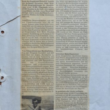 Mein allererster Artikel vom 20. Juni 1981